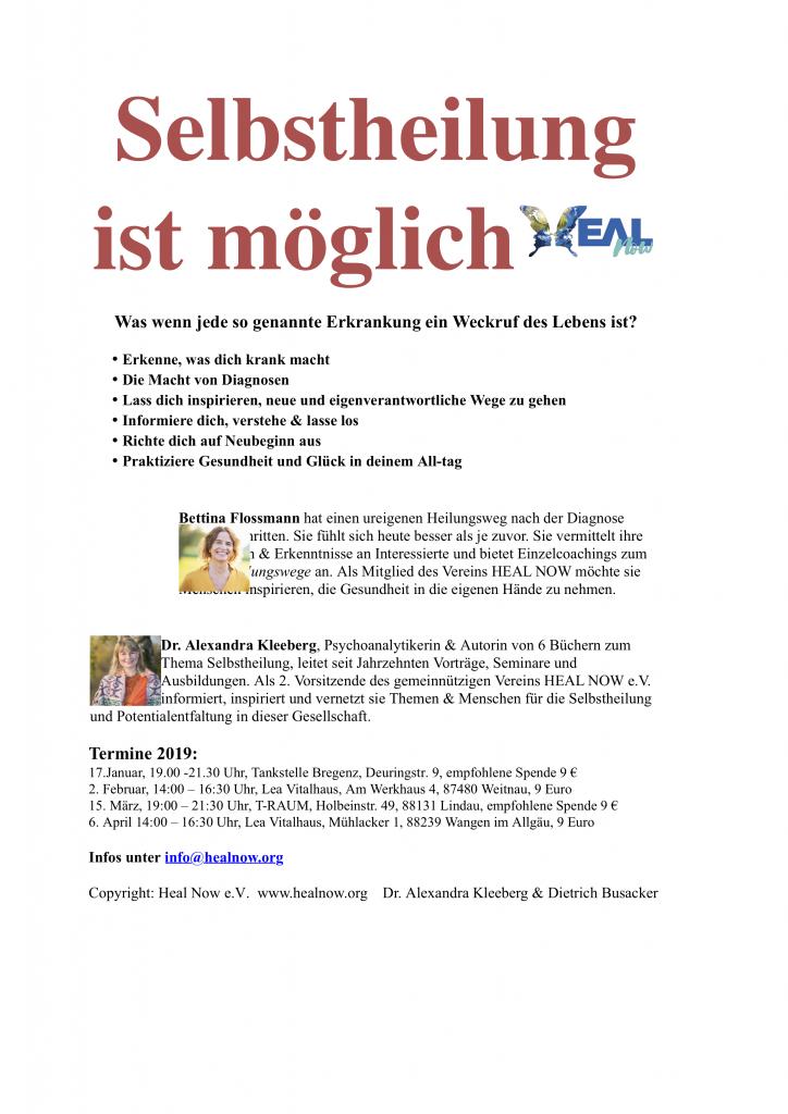VORTRAG Selbstheilung  mit Bregenz alle Termine